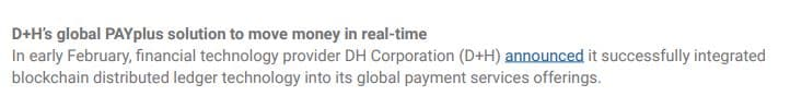 XRP D+H Global PAYplus