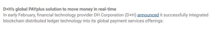 XRP D+H Global PAYplus