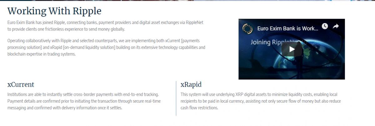 Xrpaid Ripple Euro Exim Bank
