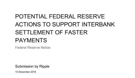 Federal Reserve and Faster Payments (XRP)