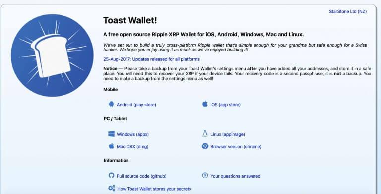 toast wallet xrp ripple