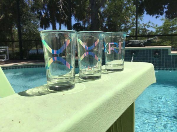 xrp pool side shot glass