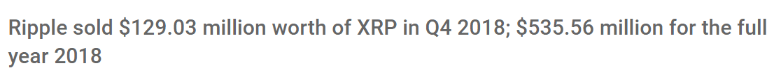 ripple xro sales for 2018