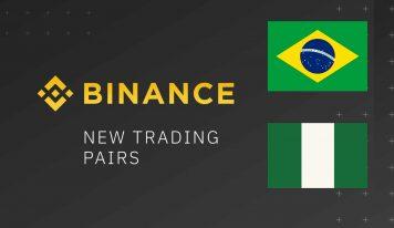 Binance Adds 2 New XRP Trading Pairs: Brazilian Real And Nigerian Naira
