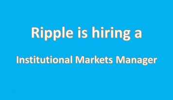 New Open Position At Ripple:  Institutional Markets Manager